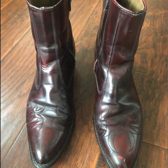 Mens Vintage Acme Zip Up Ankle Western